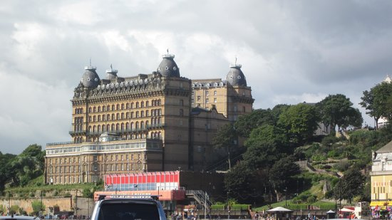 Grand Hotel Scarborough : View of the Grand from the Beach