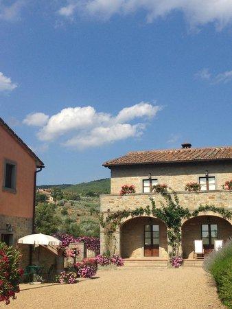 Casa Portagioia: Blick auf das Haupthaus und die Appartements