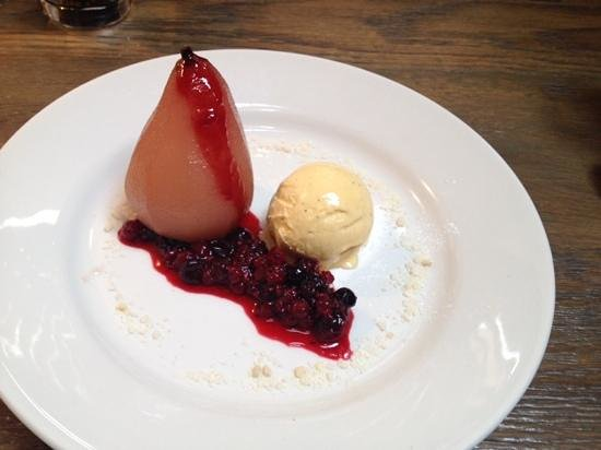 Darcy's: poached pear ..