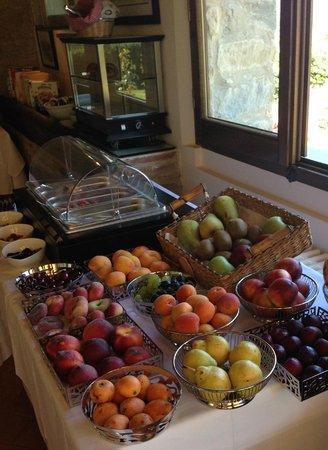 Casa Portagioia: Frühstück: Auswahl an Früchten
