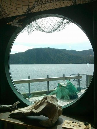 Bonne Bay Marine Station : Bonne Bay Station Looking Out from Touch Tank Area