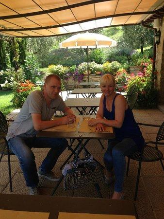 Casa Portagioia: Lunch auf der Terrasse
