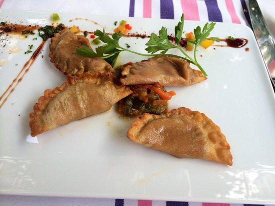 Hôtel-Restaurant Arraya : Crab ravioli