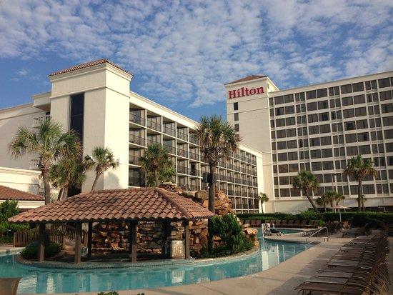 Hilton Galveston Island Resort: View from the car park