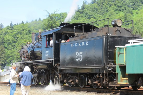 Oregon Coast Scenic Railroad: Steam train