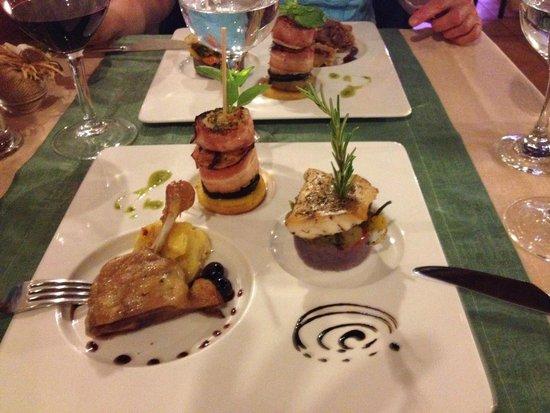 Casa do Pintor - Gourmet & Bistro: Trilogie Fisch, Jakobsmuschel, Ente