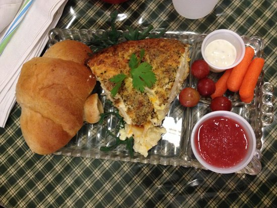 The Checkered Churn: Quiche and fruit