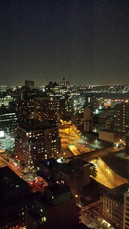 Holiday Inn Express New York City Times Square : City view at night from 34th floor