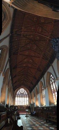 Merton College: Chapel panoramic (Aug-2014)