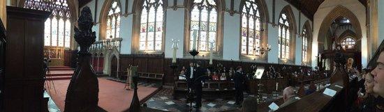 Merton College: Wedding in the Chapel panoramic (16-Aug-2014)