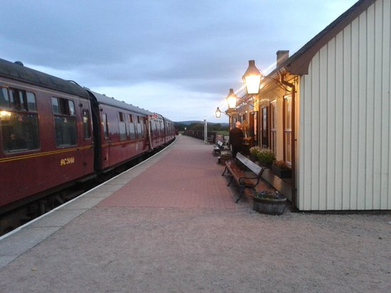 Strathspey Railway: Broomhill Station at dusk