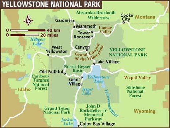 Map Picture Of Canyon Village Campground Yellowstone National