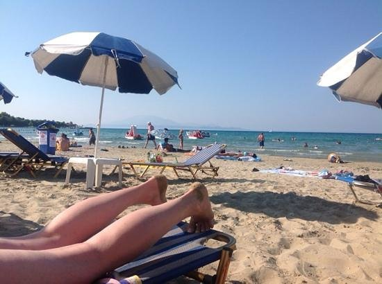Plaza Pallas Hotel: the beach with Kefalonia view
