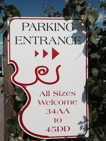 Dirty Laundry Vineyard : Parking Entrance