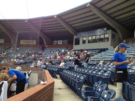 McCormick Field: View from my seat before seats were filled.