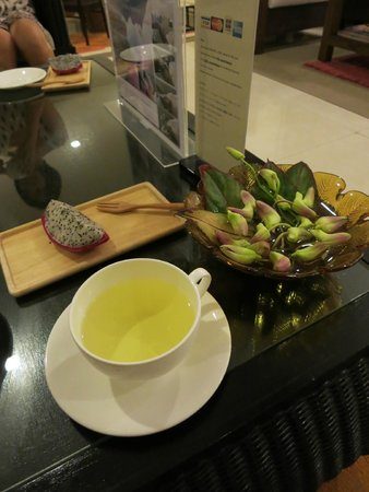 Coran Boutique Spa: after treatment fruit and tea