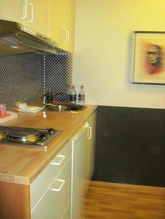 Embassy Luxury Apartments : kitchenette