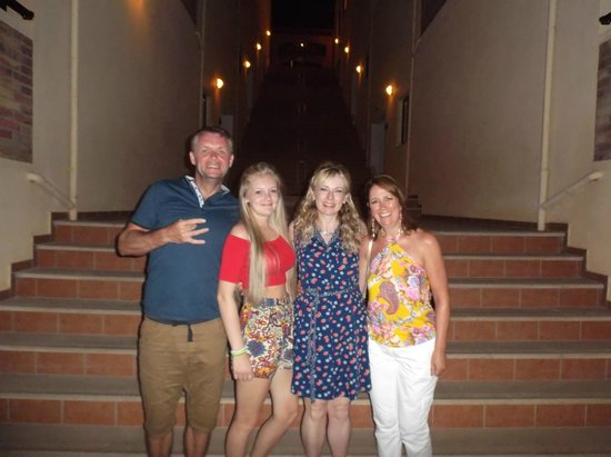 Asterias Village Resort : Off up the steps to the village