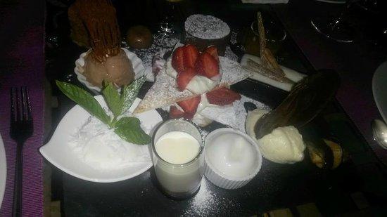 Restaurante Estrellas de San Nicolas: Exquisita degustación de postres