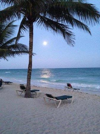 Dreams Tulum Resort & Spa: moon rise