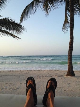 Dreams Tulum Resort & Spa: relaxing on the beach