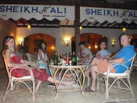 Sheikh Ali Dahab Resort: lovely atmosphere for eating