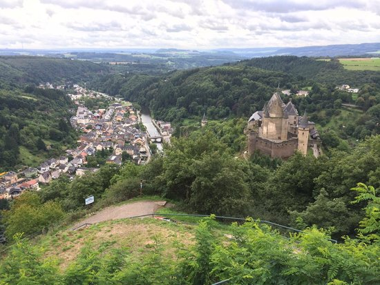 Vianden Chairlift : A view from the upper station