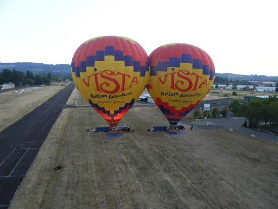 Vista Balloon Adventures : Going up