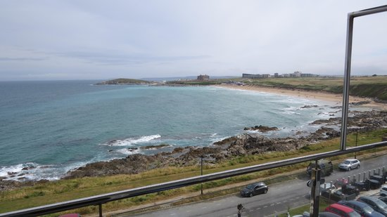Fistral Beach Hotel and Spa: View from our balcony