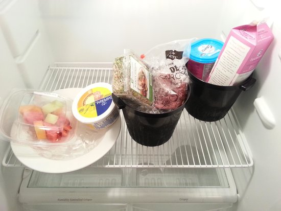 Palliser Lodge - Bellstar Hotels & Resorts : This is how we tried to keep our groceries from going bad because our fridge didn't work.  We go