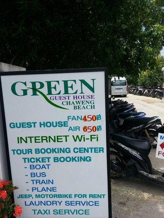 Green Guesthouse : On the road