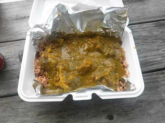 Jamaica Sunrise: Curry goat, mmmmm!