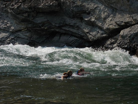 Middle Fork of the Salmon River: Refreshing dip at Cliffside Rapids