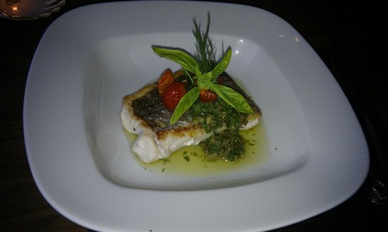 The Fish Kitchen: Halibut with Pesto Sauce