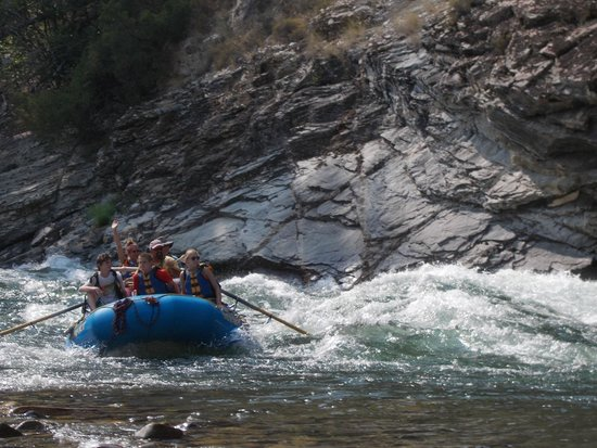 Middle Fork of the Salmon River: Cliffside rapids