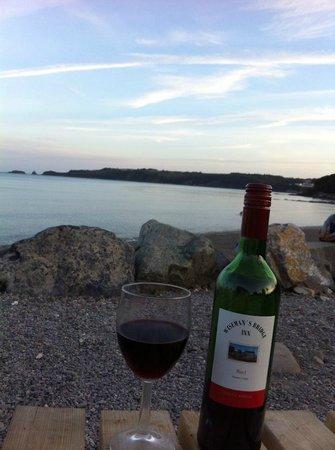 Wiseman's Bridge Inn: sundown on the beach