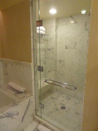 Borgata Hotel Casino & Spa: Roomy shower.