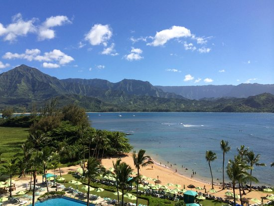 St. Regis Princeville Resort: The view from our room - beautiful