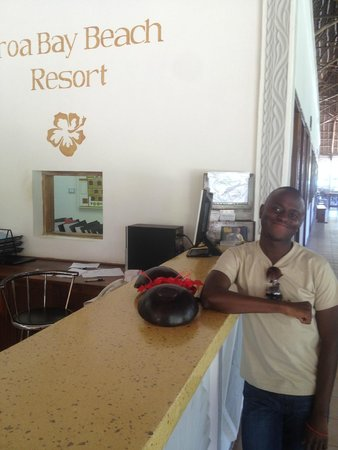 Uroa Bay Beach Resort: reception