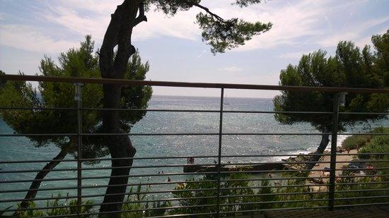 La Villa Madie : vue de notre table