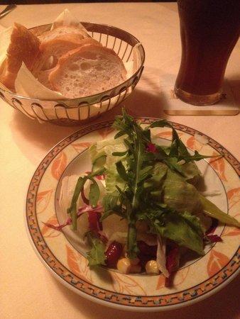 Taverne Restaurant Der Grieche: kleiner Beilagensalat