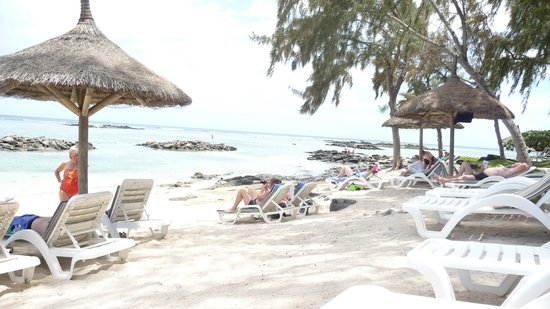 Canonnier Beachcomber Golf Resort & Spa: la petie plage tranquille