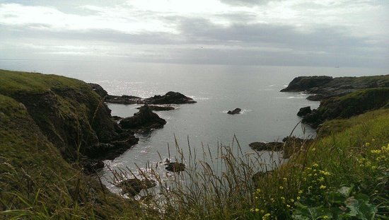 Bullers of Buchan: Scenery next to slains castle