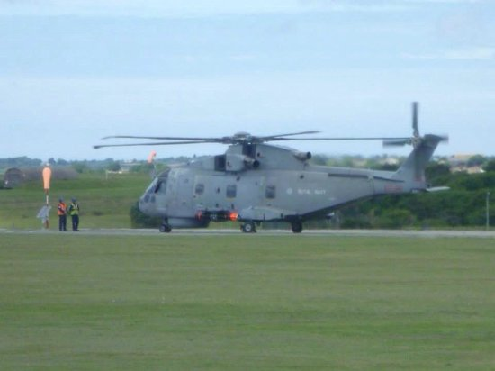 RNAS Culdrose Airfield Viewing Area: Merlin preparing to go out