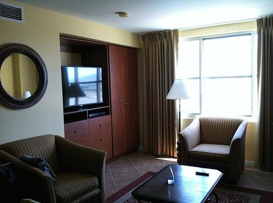 The Grandview at Las Vegas: TV and storage in main living room