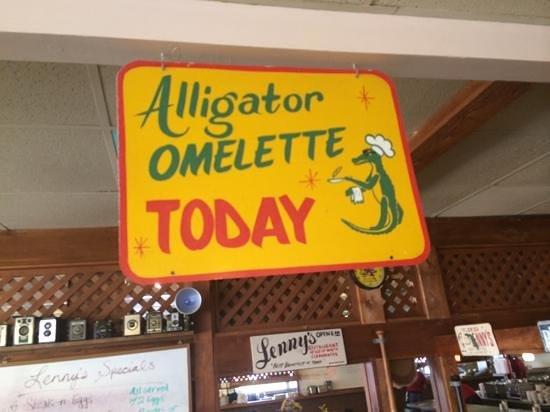 Lenny's Restaurant: Alligator Omelette