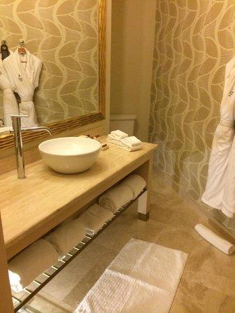 Waldorf Astoria Panama : Bathroom with lukewarm hot water