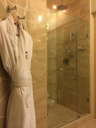 Waldorf Astoria Panama: Triangular bathroom shower