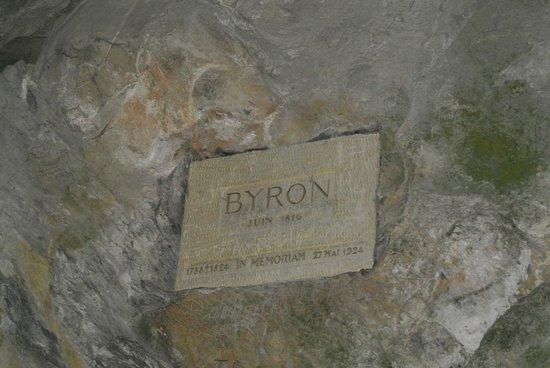 Veytaux, Switzerland: targhetta di Lord Byron