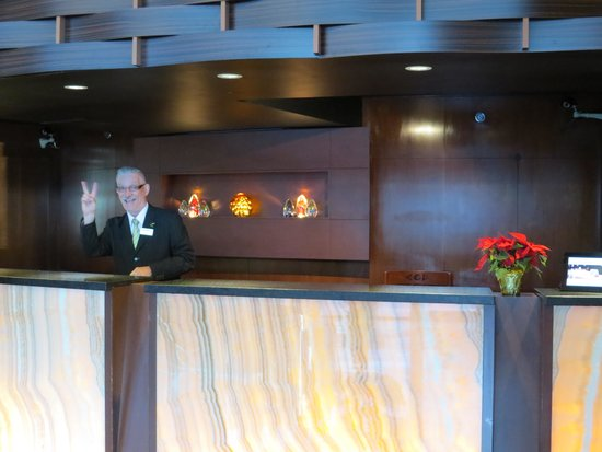 Radisson Hotel Vancouver Airport : one of the friendly, helpful staff members, always with a smile